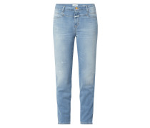 Skinny Fit Jeans mit Stretch-Anteil Modell 'Pusher'