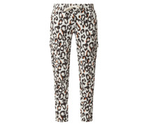 Sweatpants mit Animal-Print