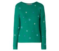 Pullover mit Stern-Stickereien