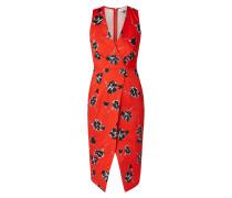 Kleid in Wickeloptik mit floralem Muster