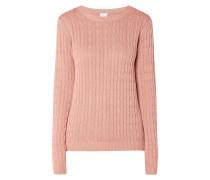 Pullover aus Zopfstrick