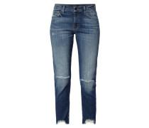 Slim Straight Fit Jeans im Destroyed Look