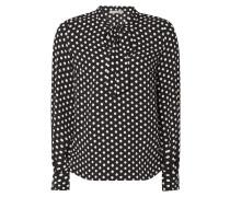 Blusenshirt mit Schluppe und Polka Dots