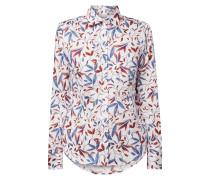 Bluse aus Baumwolle mit Blättermuster