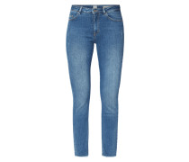 Skinny Fit High Waist Jeans mit Used-Effekten