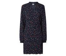 Kleid in Crinkle-Optik mit floralem Muster
