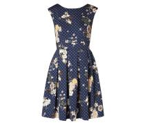 Kleid mit Blumen- und Punktemuster