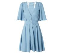 Kleid aus Lyocell mit Glockenärmeln