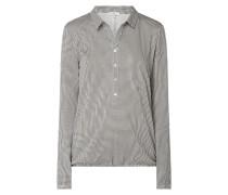 Shirt mit Hahnentritt-Dessin