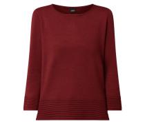 Pullover aus Viskosemischung mit Dreiviertelärmeln