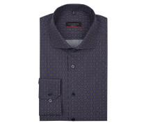 Modern Fit Business-Hemd aus Baumwolle mit Allover-Muster