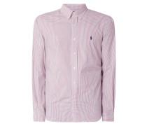 Slim Fit Hemd mit Button-Down-Kragen