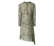 Kleid aus Viskose mit Leopardenmuster