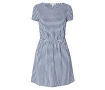 Kleid mit Vichy Karo und Cut Out