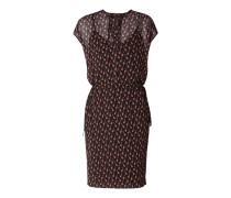 Kleid aus Chiffon mit Allover-Muster