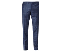Anzug-Hose mit Gitterkaro