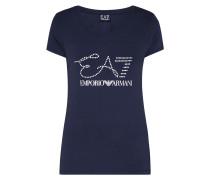 T-Shirt mit Logo-Print und Ziersteinbesatz