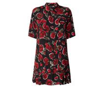 Blusenkleid mit floralem Muster