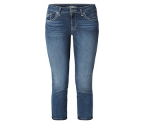 Stone Washed Caprijeans