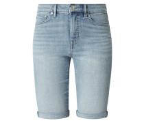 Skinny Fit Jeansshorts mit Stretch-Anteil