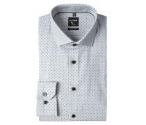Super Slim Fit Business-Hemd mit Rautenmuster