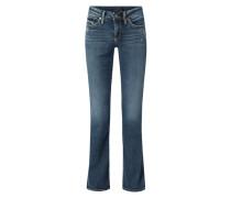 Bootcut Slim Fit Jeans mit Stretch-Anteil Modell 'Suki'