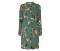 Kleid mit Knopfleiste und floralem Muster