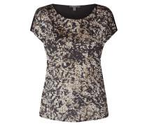 T-Shirt mit Glitter-Effekt