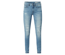 High Waist Skinny Fit Jeans im Used Look