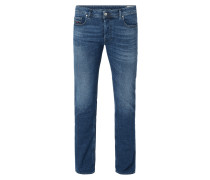 Stone Washed Regular-Bootcut Jeans