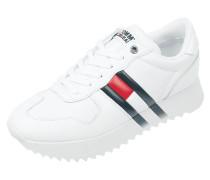 Sneaker aus Leder und Synthetik