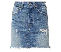 Water<Less™ High Rise Jeansrock mit Label-Patch