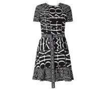 Kleid mit Logo-Muster