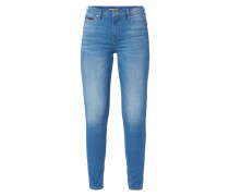 Light Stone Washed Skinny Fit Jeans