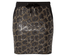 Minirock mit Leopardenmuster aus Pailletten