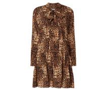 Kleid aus Seide mit Leopardenmuster