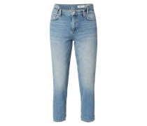 Stone Washed Mom Fit Jeans