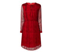 Kleid aus Viskose in Snake-Optik