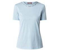 T-Shirt mit Zierperlenbesatz Modell 'Ribe'