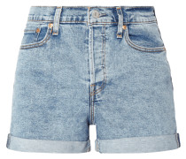 Bleached 5-Pocket-Jeansshorts