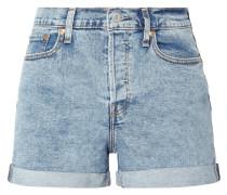 Bleached 5-Pocket-Jeansshorts