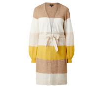 Longcardigan aus Alpaka-Woll-Mischung mit recyceltem Polyester Modell 'Anna'