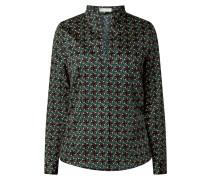 Bluse aus Baumwolle mit Allover-Muster
