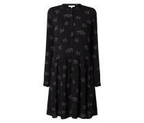 Kleid aus Viskose mit Allover-Print