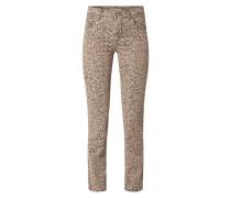 Regular Fit Jeans mit Leopardenmuster