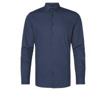 Slim Fit Business-Hemd mit Tupfenmuster