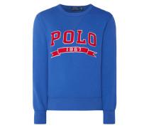 Sweatshirt mit Logo-Aufnähern