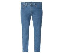 Cropped Slim Fit Jeans mit Logo-Prints