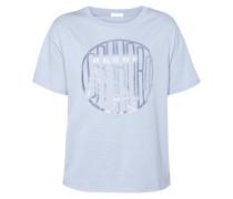 T-Shirt mit Logo-Print in schimmernder Optik