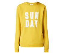 Sweatshirt mit Frottee-Stickerei